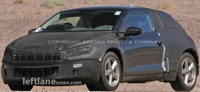 Photos du design extérieur  du coupé VW Scirocco espionné